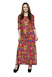 LEBE Women's Cotton Printed A-Line Dress