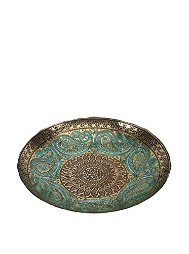 IMAX 83185 Paisley Glass Bowl
