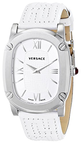Versace-Womens-VNB020014-COUTURE-Stainless-Steel-Watch-with-White-Leather-Band