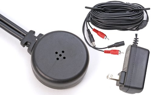 Q-See Qspmic Powered Microphone With Power Supply And Cable