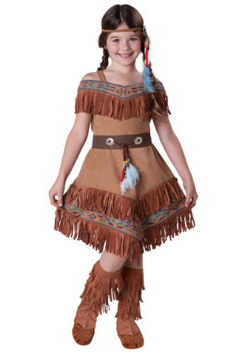 Indian Maiden Child Costume-Size 10