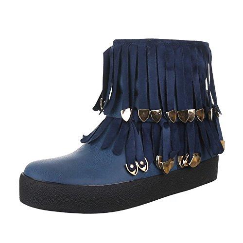 Ital-Design - Stivaletti Donna , Blu (blu), 35 EU