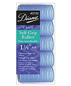 Diane Self Grip Rollers, Blue, 1 1/8 Inch, 5 Count