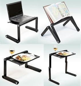 360 degree Portable Laptop Table Aluminum Folding E Table 2 Usb Cooling Fan T8 available at Amazon for Rs.1599
