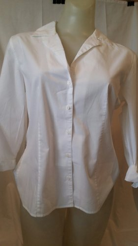 talbots-petites-classic-white-button-front-v-neck-blouse-with-bow-detail-cuffed-sleeves-size-10p