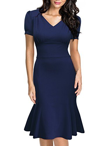 Miusol-Womens-Official-V-Neck-Retro-Cap-Sleeve-Fitted-Business-Cocktail-Dress