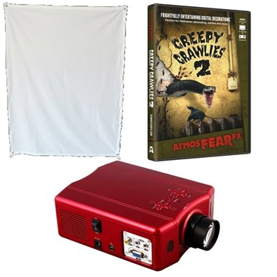 price for virtual reality halloween projector kit with creepy crawlies 2 atmosfearfx dvd and screen inexpensive