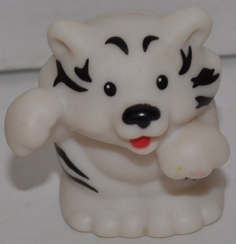 Little People White Tiger (2005) - Replacement Figure - Classic Fisher Price Collectible Figures - Loose Out Of Package (OOP) - Zoo Circus Ark Pet Castle - 1