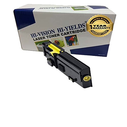 HI-VISION ® 1 Pack Compatible Dell C2660dn/ C2665dnf / 2660 High Yield Yellow Toner Cartridge Replacement 593-BBBR, YR3W3