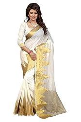 LEEWODEAL Kanjivaram Cotton Printed Saree