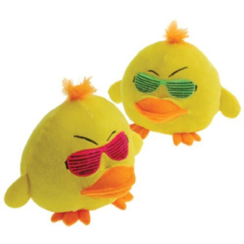 Lot Of 2 Shutter Shade Sunglasses Yellow Angry Ducks - 6""