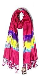 Anuze Fashions Tie Dye Multi-Coloured Design Stole