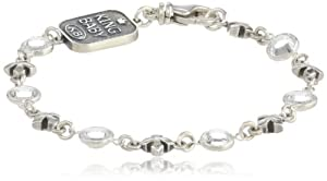 King Baby MB Cross with Swarovski Crystals Bracelet, 7.5