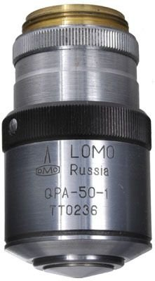 Lomo Objective, Q-Plan Achromat, 50X, 1.00-0.70 N.A., Oil Immersion, Iris, Qpa50