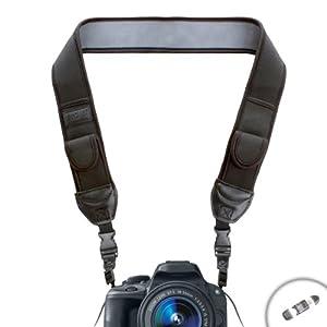 USA Gear Adjustable Anti-Slip Camera Media Strap with Accessory Storage Pockets for Sony Alpha NEX-3N , NEX-5 , NEX-6 / SLT-A33 , SLT-A58 / HX300 / H200 and Many More Sony Digital Cameras! *Bonus Card Reader*