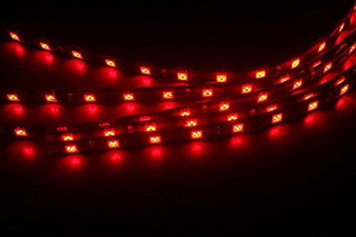 ABN 30cm Flexible étanche LED autocollant bande ruban adhésif Lot de 5(Rouge)