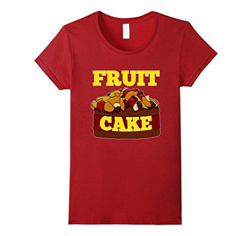 Women's FUNNY FRUIT CAKE T-SHIRT Ugly Christmas Sweater