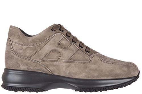 Hogan scarpe sneakers donna camoscio nuove interactive allacciata beige EU 36 HXW00N00010CR0C407