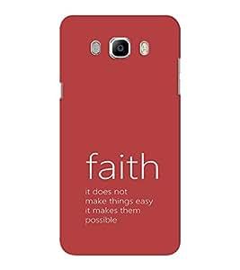EPICCASE Faith makes it possible Mobile Back Case Cover For Samsung J5 2016 (Designer Case)