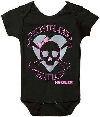 HUSTLER® Problem Child Strampelanzug Kinder BLACK 0-6 MON