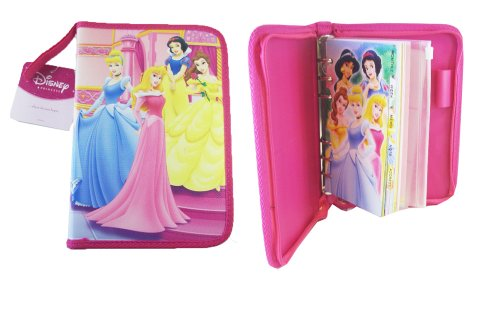 Disney Princess Agenda Organizer - 4 Princess Day Planner - Pink