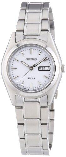 Seiko Damen-Armbanduhr XS Analog Quarz Edelstahl SUT119P1