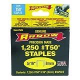 Arrow T50 Staples Box 1250 8mm 5/16in ARRT50516S
