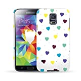 MediaDevil Grafikcase Samsung Galaxy S5 Case: Ultra Slim edition - Multicolour Hearts (Glossy finish)