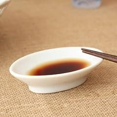 中華やお刺身にだ円しょうゆ皿〔一部アウトレット訳あり〕