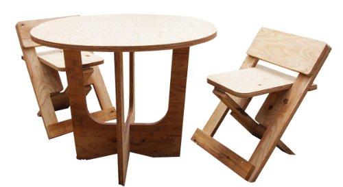 木のプラモデル もくプラ D-001 DIYテーブル&チェア
