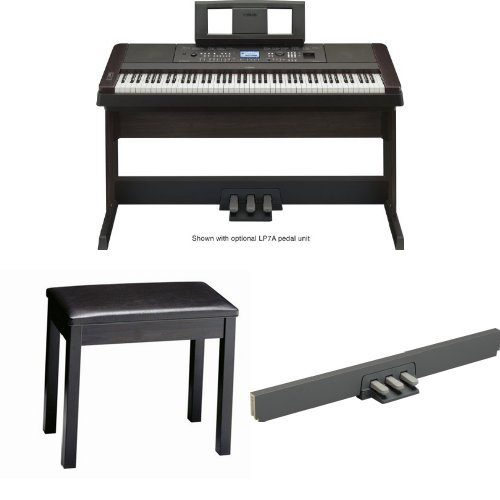Yamaha Dgx650B Digital Piano With Padded Bench And 3-Pedal Unit