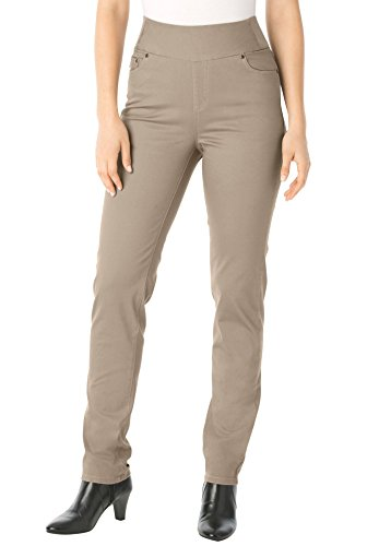 Woman Within Tall straight leg wide-waist jeans 20 T - Bark
