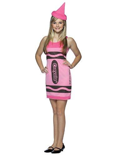 Crayola Sky Blue Tank Dress Costume - Tween front-530169