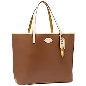 Coach Park Metro Leather Large Tote Purse Brown