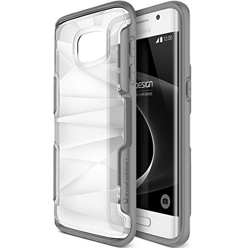 Galaxy S7 Edge Case, VRS Design [Shine Guard][Gray] – [Clear Frost][Rugged Protection] For Samsung S7 Edge