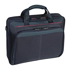 Targus Classic Clamshell Case for 16 Inch Laptops CN31US (Black with Red)