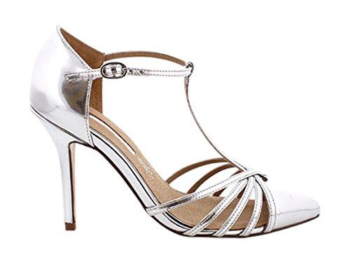 MARIA MARE Donna 66082 Abito scarpe argenteo Size: 37