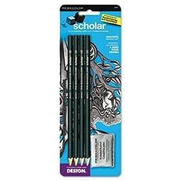 Sanford Ink 2502 Scholar Graphite Pencil Set, Kneaded Eraser