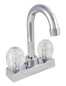 LDR 011 5100 Dual Acrylic Handle Bar Faucet, Chrome