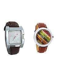 Gledati Men's White Dial & Foster's Women's Multicolour Dial Analog Watch Combo_ADCOMB0002282