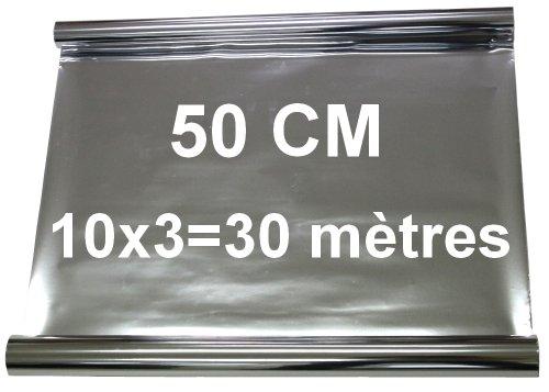 Aerzetix-10x330-mtres-50-cm-Film-solaire-teint-SILVER-ARGENT-EFFET-MIROIR-pour-vitre-fentre-auto-voiture-velux-btiment