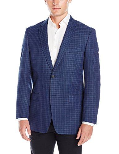 Adolfo-Mens-Blue-Neat-Check-Modern-Fit-Sport-Coat
