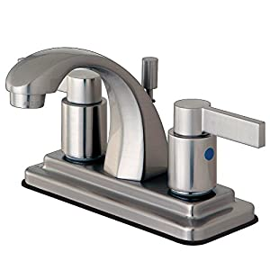 Kingston Brass Kb4648ndl 3 7 8 Inch In Spout Reach Nuvofusion 4 Inch Centerset Euro High Rise