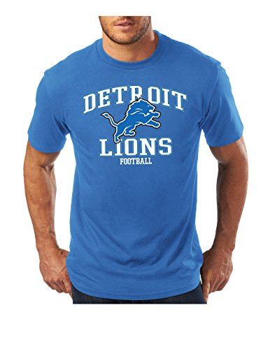 NFL Detroit Lions Men's Greatness Program Short Sleeve Basic Tee, X-Large, Sport Blue (Detroit Lions Program compare prices)