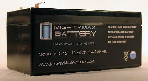 Ml3-12 - 12V 3Ah Sla Battery Replaces Bp3.6-12 Cf12V2.6 Cfm12V3