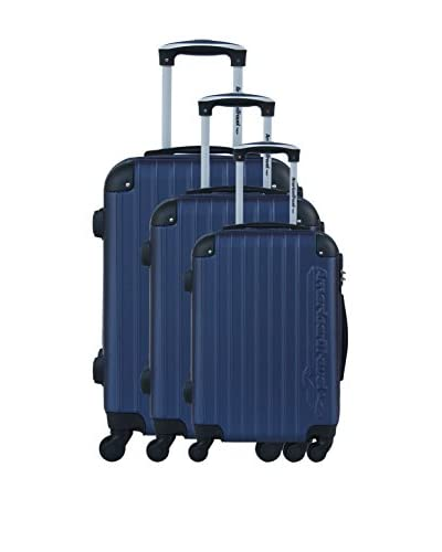 AMERICAN TRAVEL Set de 3 trolleys rígidos