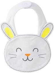 Carter\'s Unisex Holiday Teething Bib (Bunny Face) One Size