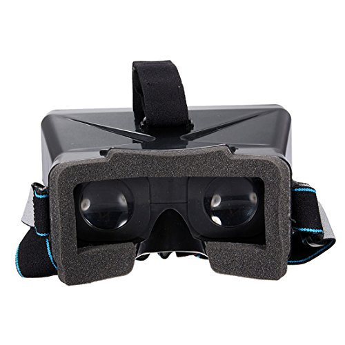 Virtual Reality Glasses 3D VR Box + Bluetooth Mini Joystick Gamepad Controller - For Android IOS Smartphones 4...