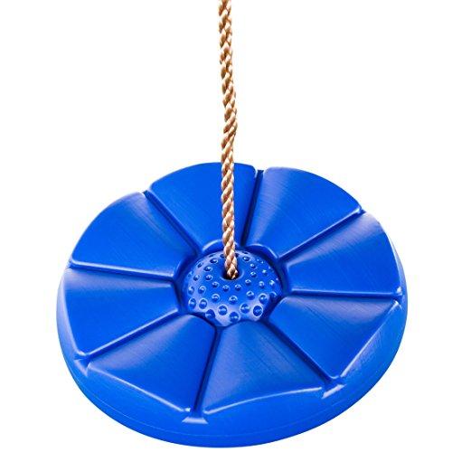 Ultrakidz - Asiento de columpio, resistente a la intemperie, diseño flor de plástico, color azul