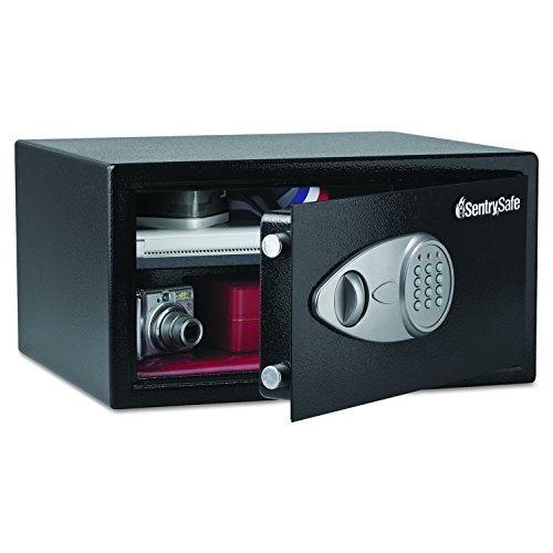 Sentry Safe X105 Electronic Lock Security Safe, 1.0 ft3, 16-15/16w x 14-9/16d x 8-7/8h, Black (SENX105)